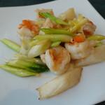 中国料理 桃花林 - 海老の塩炒め