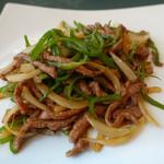 中国料理 桃花林 - 牛肉細切りとピーマンの炒め(青椒牛肉絲)