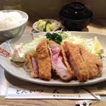 65262127 - 得ロース定食1600円+ご飯大盛り50円