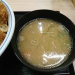 かつや - 2017年4月 とん汁(小) 129円