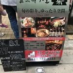 食べ酔う屋 菜 - 【2017.4.5】看板。