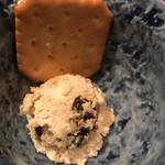 食べ酔う屋 菜 - 【2017.4.5】お通しのクリームチーズ。