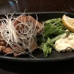 食べ酔う屋 菜 - 【2017.4.5】鳥肉の唐揚げ葱ソースかけ¥600