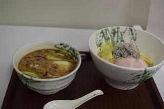 麺屋 庄太 津久井浜店 - 三崎君栄丸の釜揚げしらす乗せつけ麺