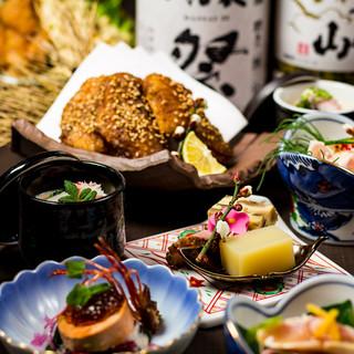 絶品地鶏全7品+飲放3H付⇒2999円~!!◆完全個室完備◆