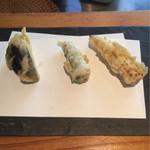 宇奈根 山中 - 茄子、オクラ、ヤングコーン