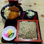 65266441 - ソースカツ丼セット(もりそば)1020円