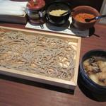 天ぷら蕎房 天晴 - 甘熟肉汁板蕎麦 850円