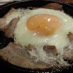 しんぱち食堂 - 朝ぶたばら目玉アップ