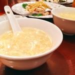 四川菜園 - ▲卵スープコーン入り優しい味わい