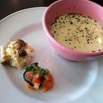 ノアール・カフェ - ランチの前菜とスープ
