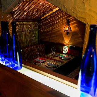 ■温かな光空間『半個室』2名~4名様。接待・ご家族の会食に!