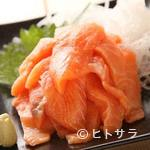 苫小牧新鮮魚市場 - サーモン刺し