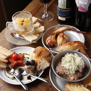 【4000円】女子会コース3時間飲放+選べる料理8品...