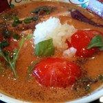 麺や 亀 - イタリアン完熟トマト麺