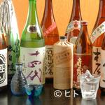 寿司割烹 魚徳 - 当店厳選の日本酒、焼酎、希少な銘柄も