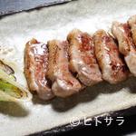 尚庵 - 鴨の塩焼き。厚切りの鴨肉をジューシーに焼き上げました。