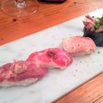 神戸三宮肉寿司 - 肉寿司:肉とろ盛り合わせ