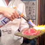 神戸三宮肉寿司 - 肉寿司:サシトロをあぶり