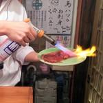 神戸三宮肉寿司 - 肉寿司:sukiyakiをあぶり