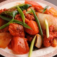 バンガロール - チキンとエビチリ