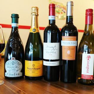 ワインを始め、豊富なドリンク!