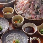 魚料理 ろっこん - てっちりコース(写真は、2人前)