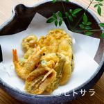 ろっこん - さくさく香ばしい『天ぷら盛り』