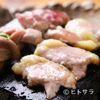柚はな  - 淡海地鶏 溶岩石焼き 1155円