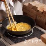 姫沙羅 - カニ入りオムレツ クリームソース
