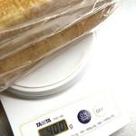 65286855 - 国産小麦湯種食パン計量。