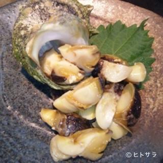 天然物!サザエの味噌漬け(500円)