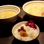 麺の坊 晴天 - ランチサービスのご飯と♪