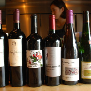 ★40種のワインでお出迎え