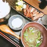 65289211 - 極上厚切り牛タン炭火焼き定食ヽ(*´▽)ノ♪(^.^)