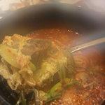焼肉やまと - 熱々のカルビスープ