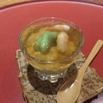 井がわ - 料理写真:空豆と豆乳の前菜