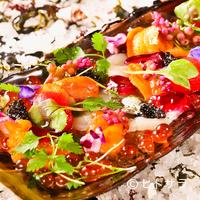 ビストロ ダイア - 『篠島産平貝と季節野菜と海の恵み 北海道産エゾバフン雲丹・フランス産セヴルーガキャビアの宝石箱』