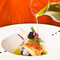 ビストロ ダイア - 『北海道釧路産新秋刀魚とカナダ産松茸のマリネ 焼茄子の香 り 錦糸瓜