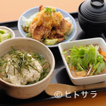 蒼 - 岩手鶏の唐揚げととうふ丼