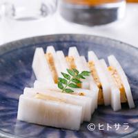 焼鳥YAMATO - 熟成肉のカラスミ風 〜熟成酒粕に漬込みカラスミのように〜