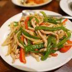 菜香園 - 細切り豚肉とピーマン炒め
