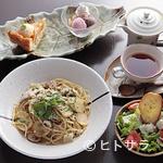 すずの木カフェ - レディースセット(パスタ+サラダ+ドリンク+ケーキプレート)