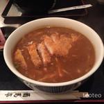番馬亭 - カツカレー蕎麦のちょい辛
