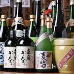 富来助 - 地鶏料理と相性の良い宮崎の焼酎を取り揃えております