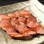 菊春 - 尾張牛のミスジ肉ステーキ