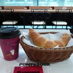 ポンパドウル - 料理写真:塩パンロールあんバタ―サンドとブレンドコーヒー