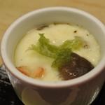 鮨暁 - 海老茶碗蒸し