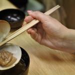 鮨暁 - アサリの味噌汁