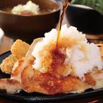 満天食堂 - 鉄板焼き鶏のおろしポン酢定食